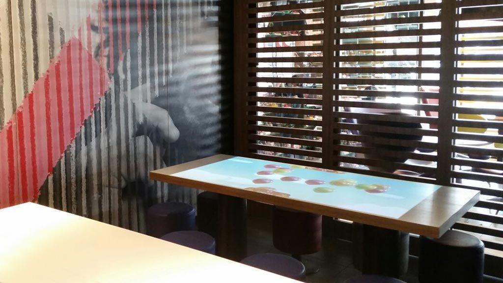 AV table in place