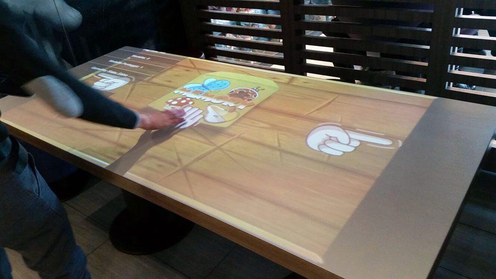 AV table in use